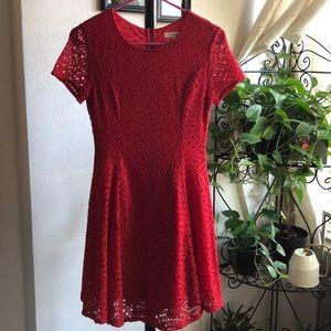 Francesca's red lace short dress